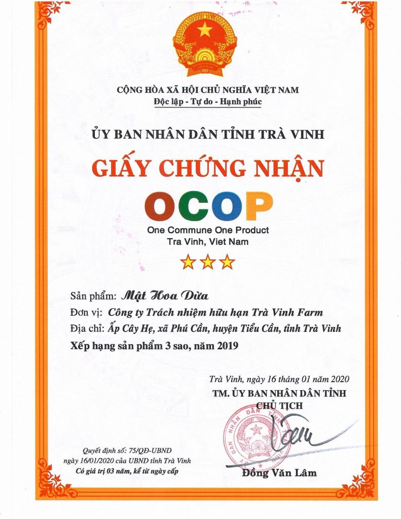 Chứng Nhận OCOP