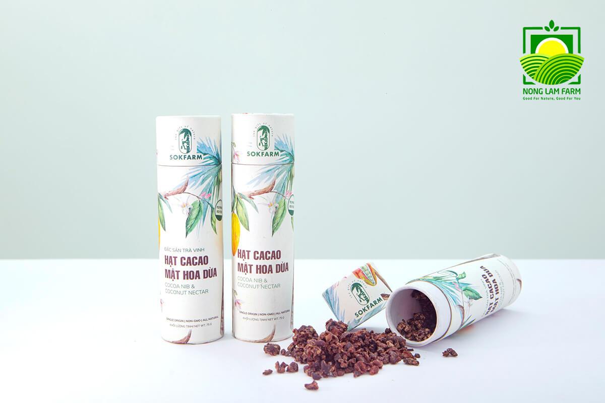 hạt cacao mật hoa dừa sokfarm